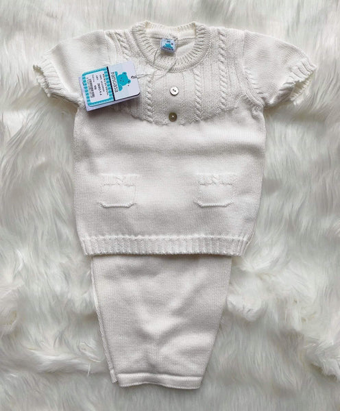 Pangasa Baby Baby Knitwear 9m Pangasa Baby - Cream Knitted 2pc Set