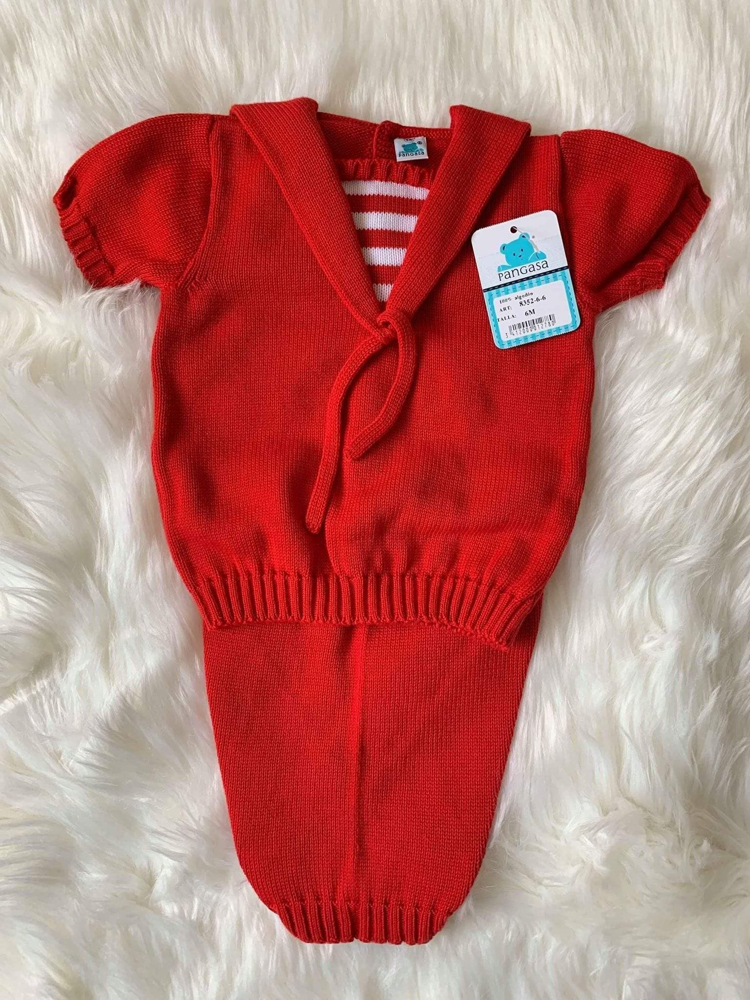 Pangasa Baby Baby Knitwear Pangasa Baby - Red & White Sailor 2pc Knitted Set 8352