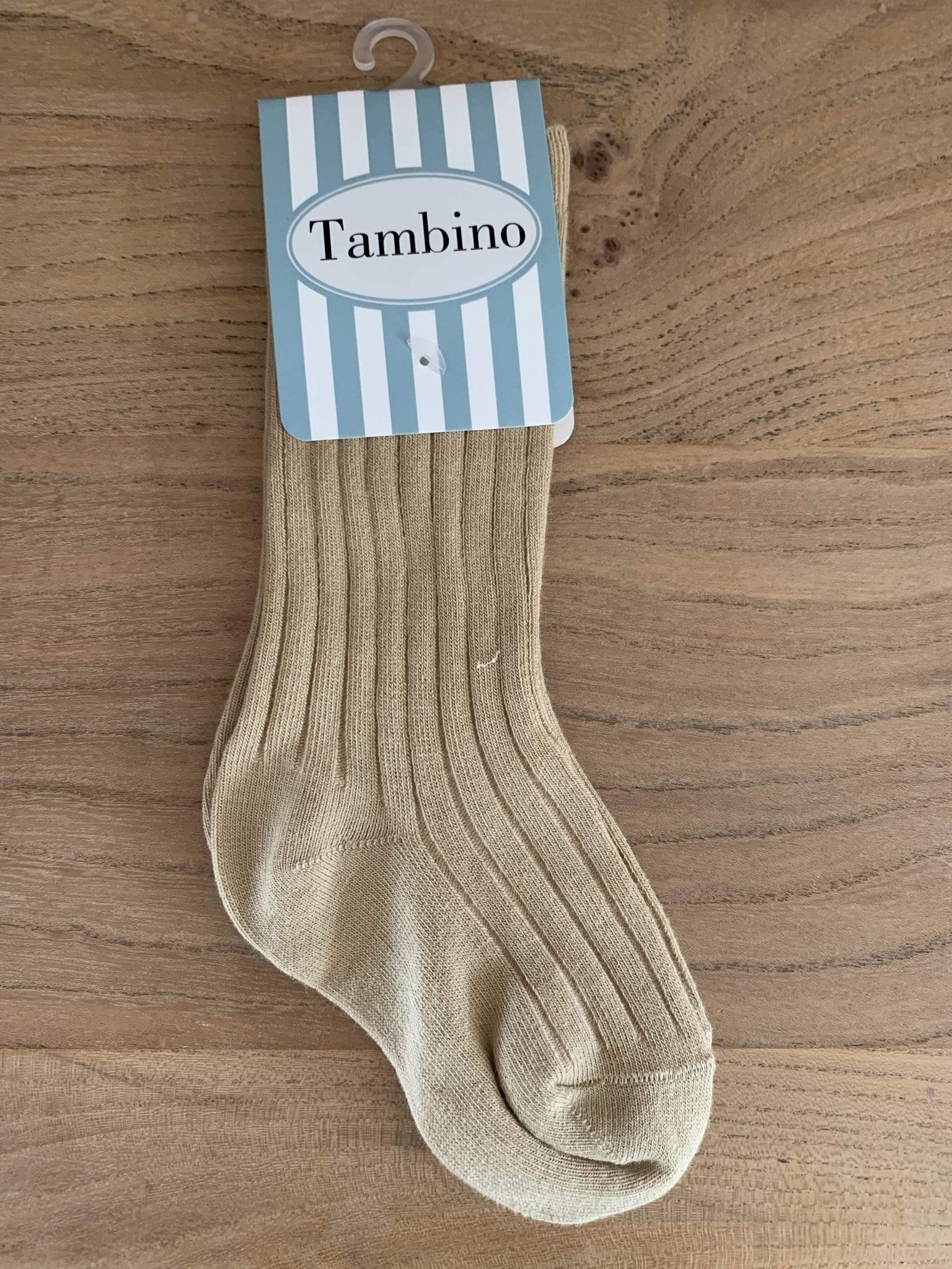 Tambino Socks & Tights 19-22 Socks - Ribbed Camel Boys Knee High Socks