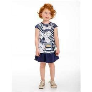 UBS2 Girls Dresses UBS2 SS20 - Navy Print Casual Dress