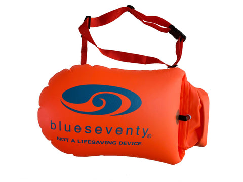 blueseventy Swim Safety Tow Float & Dry Bag Orange