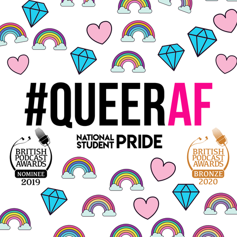 Listen every week, as a different student, graduate or LGBT+ producer tells their most #QueerAF story on the podcast, by National Student Pride