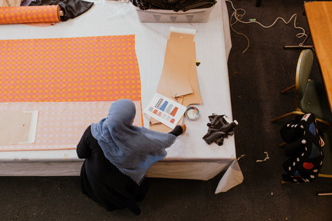Our clothes are hand made to order in 3-5 weeks by Mitalie, Fatheha and Malika in East London