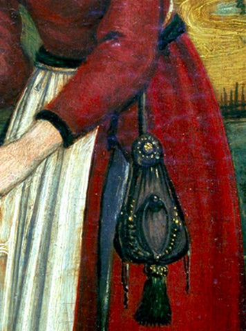 At first, in the Middle Ages, everyone wore pockets like a waist belt; they were just little pouches on a rope
