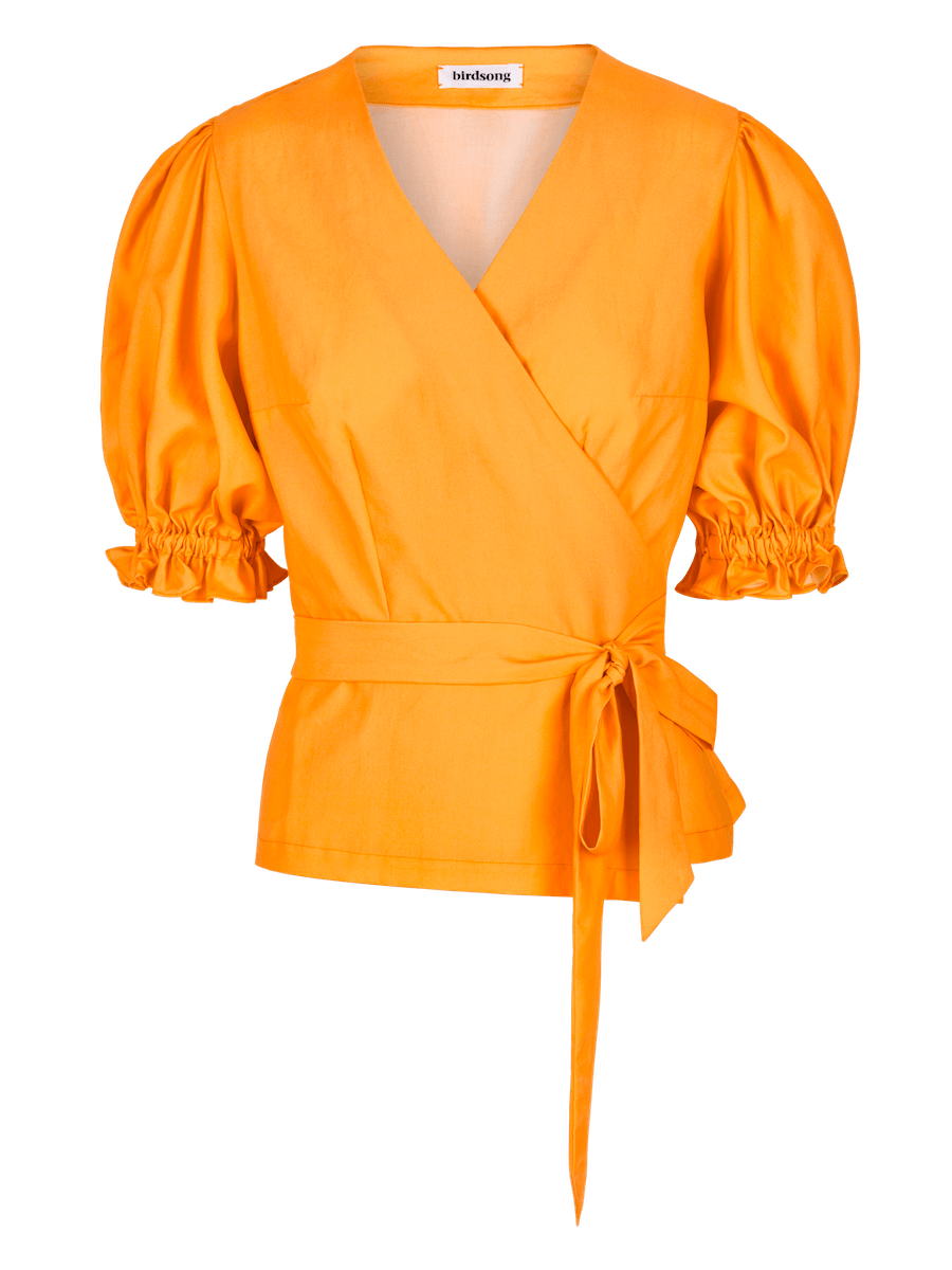 Gold Puff Sleeve Top ⚡ 10 - 12 week wait CLOTHING Birdsong