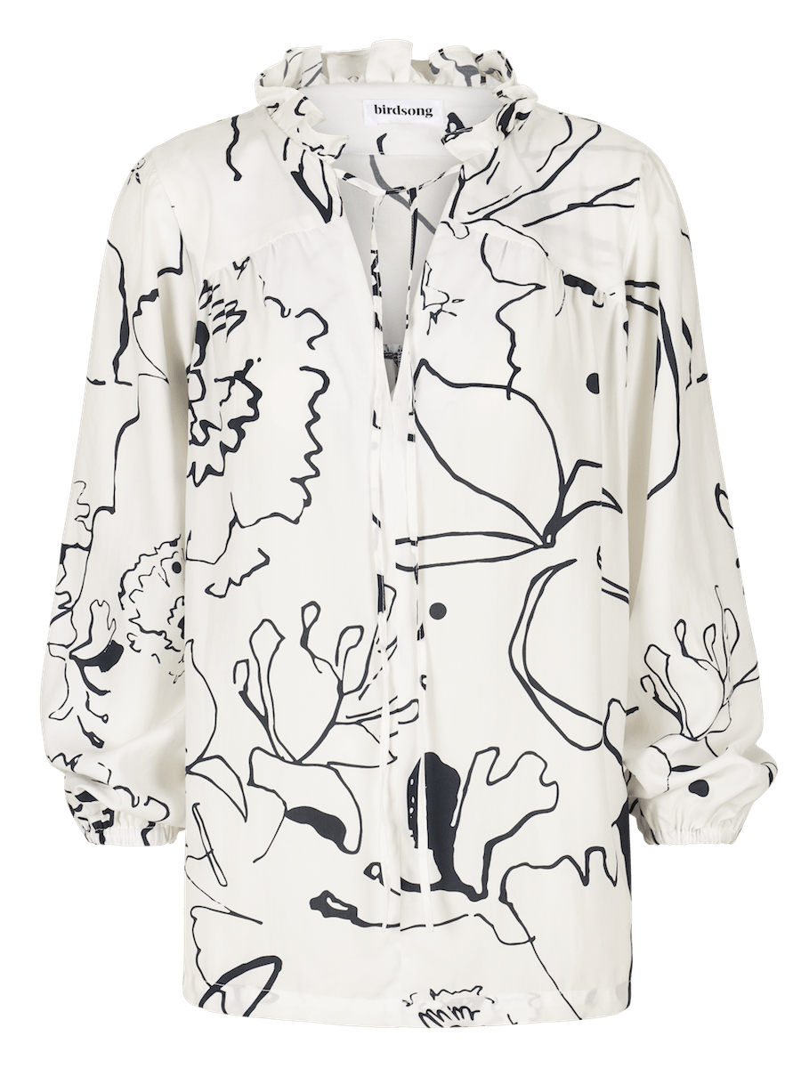 White Printed Prairie Blouse ⚡ 10 - 12 week wait CLOTHING Birdsong