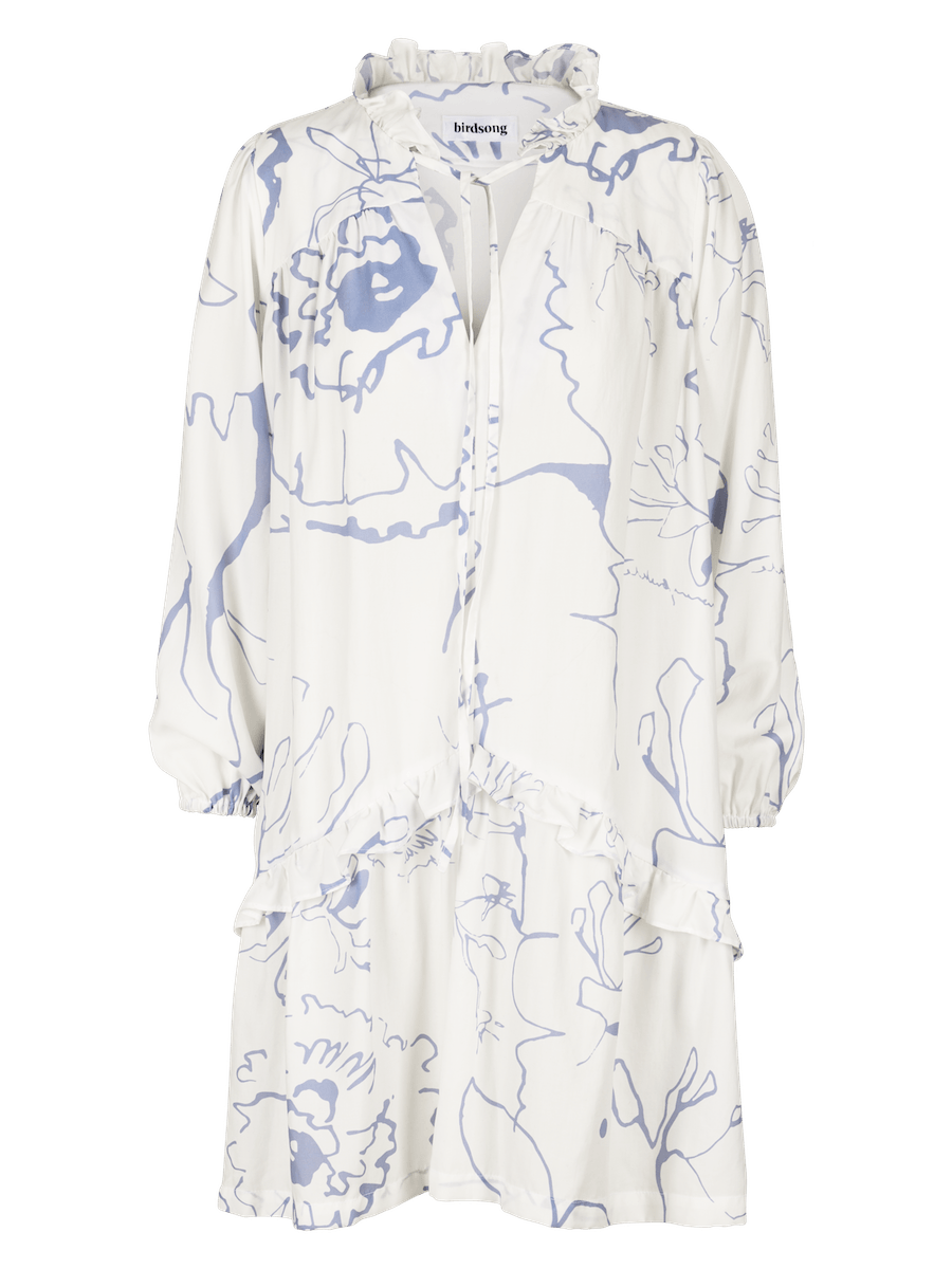 White Printed Prairie Dress ⚡ 10 - 12 week wait CLOTHING Birdsong