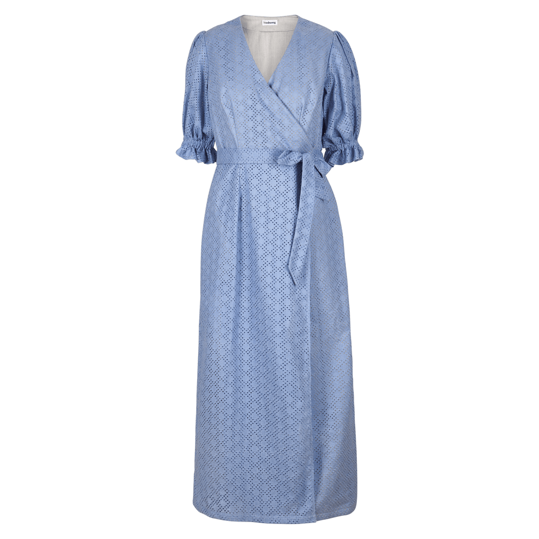 Blue Broderie Anglaise Prairie Dress (limited edition)