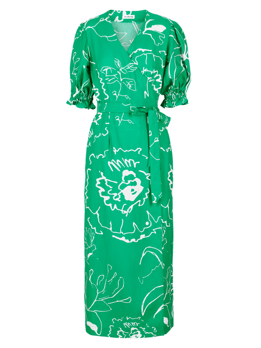 Emerald Green Printed Maxi Dress⚡ 10 - 12 week wait CLOTHING Birdsong