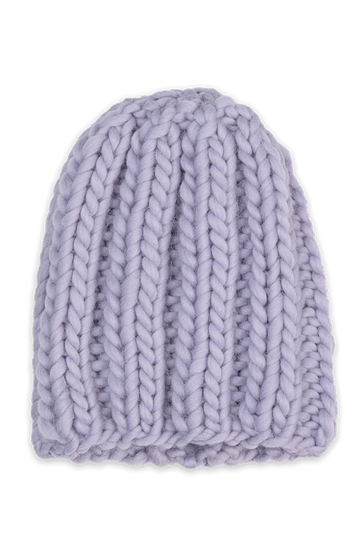 Hand-knitted Wool Lavender Hat ACCESSORIES KNITTERS-CASSIE