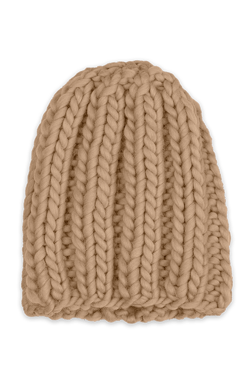 Hand-knitted Wool Camel Hat ACCESSORIES KNITTERS-CASSIE