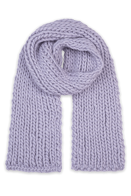 Hand-knitted Wool Lavender Scarf ACCESSORIES KNITTERS-CASSIE