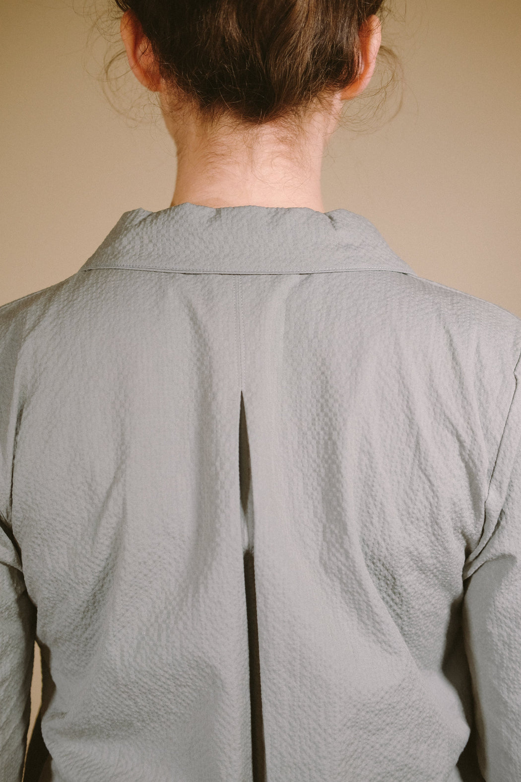 Zadie Shell Grey Textured Shirt