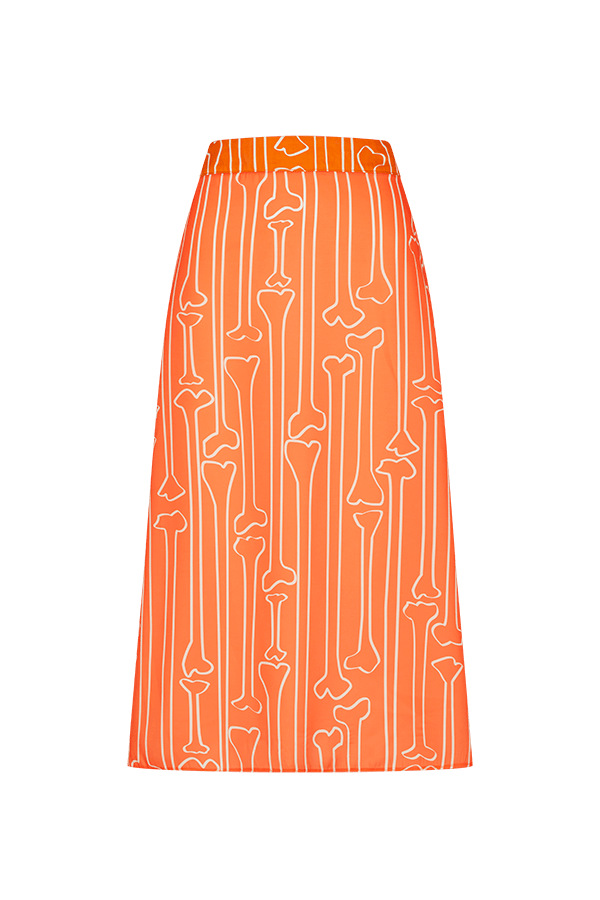 Bone Print Midi Skirt CLOTHING FW