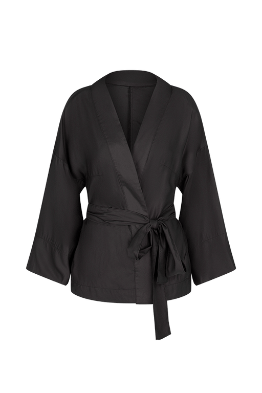 Black Bamboo Silk Day Jacket CLOTHING FW