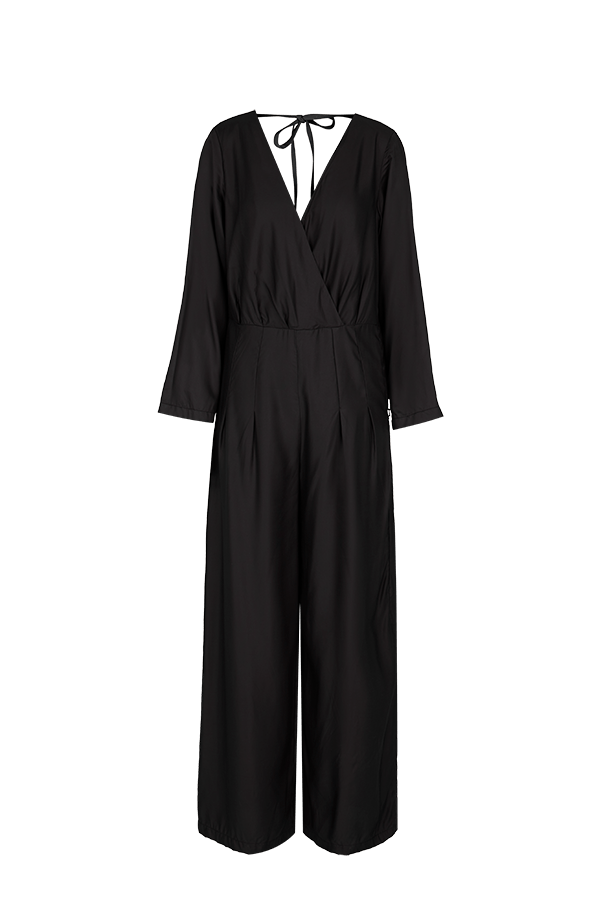 Black Bamboo Silk Jumpsuit CLOTHING FW