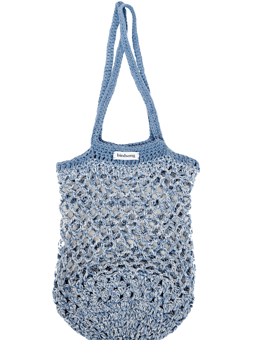 Birdsong X Katie Jones Recycled Denim Crochet Bag