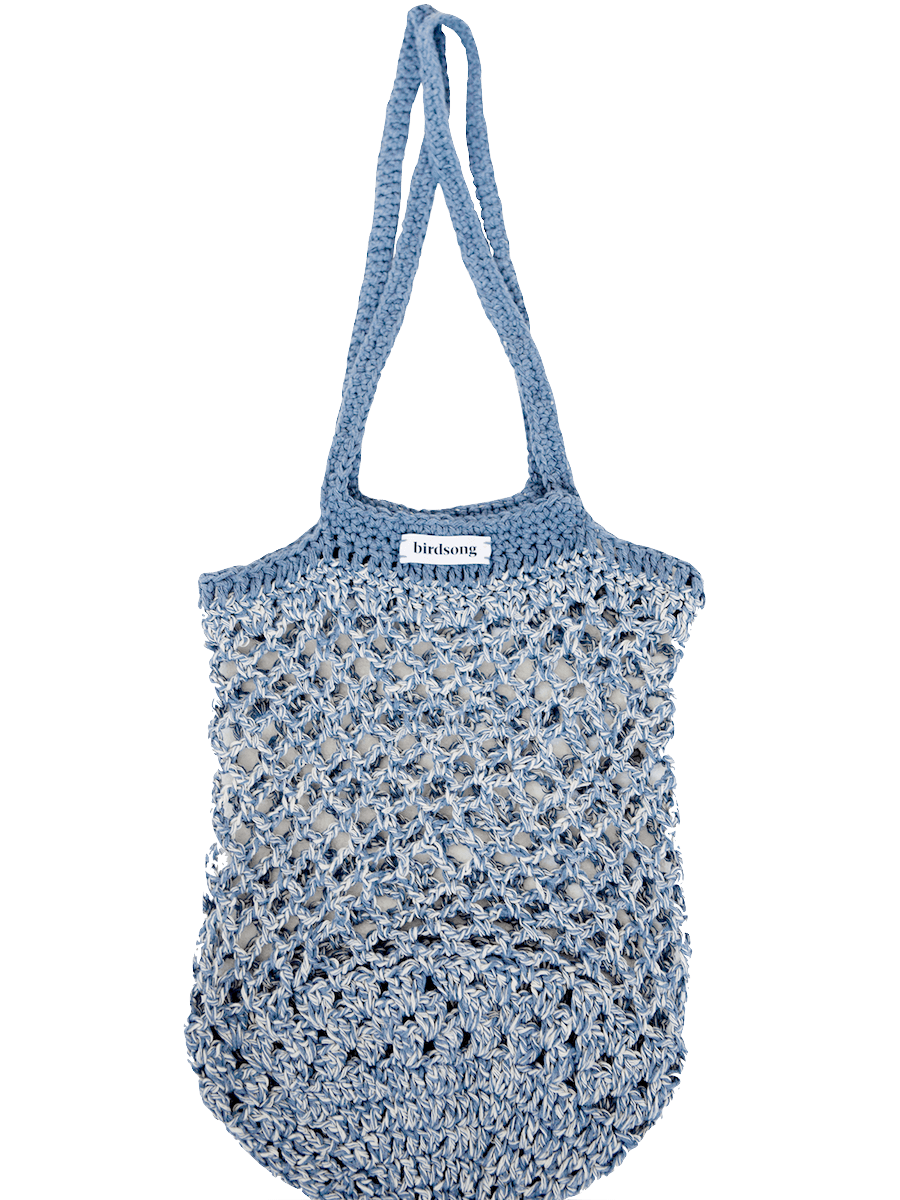 Birdsong X Katie Jones Recycled Denim Crochet Bag ACCESSORIES BIRDSONG