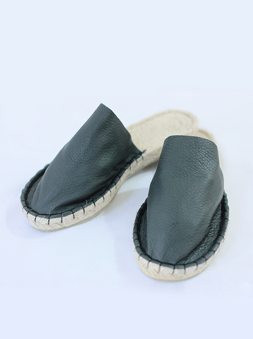 Reclaimed Leather Open Slippers SHOES JUTA