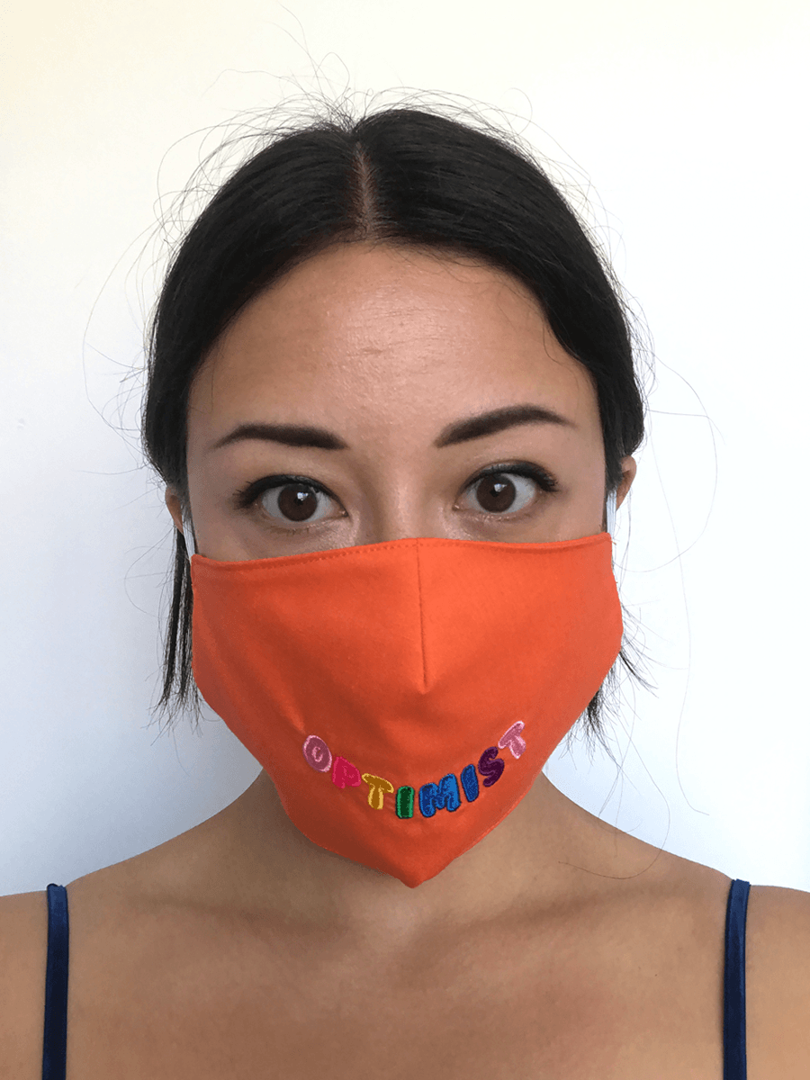 Living Wage Embroidered Optimist Face Masks Birdsong