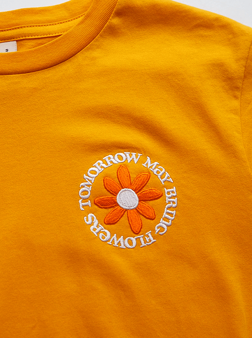 Unisex Tomorrow May Bring Flowers Organic Cotton Tee CLOTHING MONA