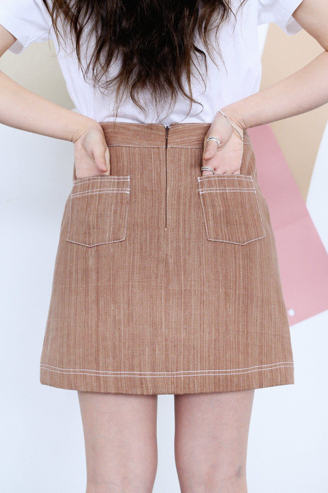 Clapton Denim A-line Skirt