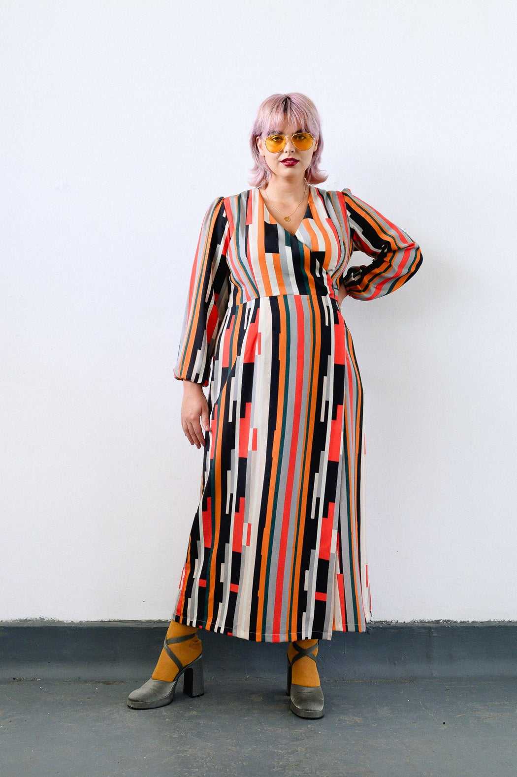 Striped Maxi Wrap Dress CLOTHING Birdsong