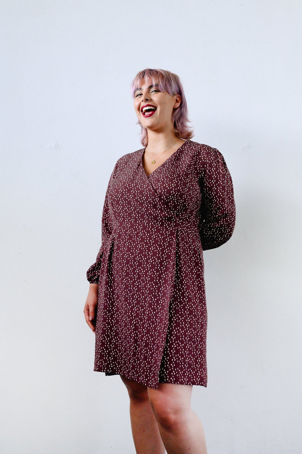 Dots Mini Wrap Dress CLOTHING Birdsong