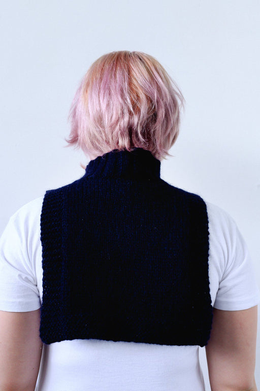 Navy Turtleneck Bib