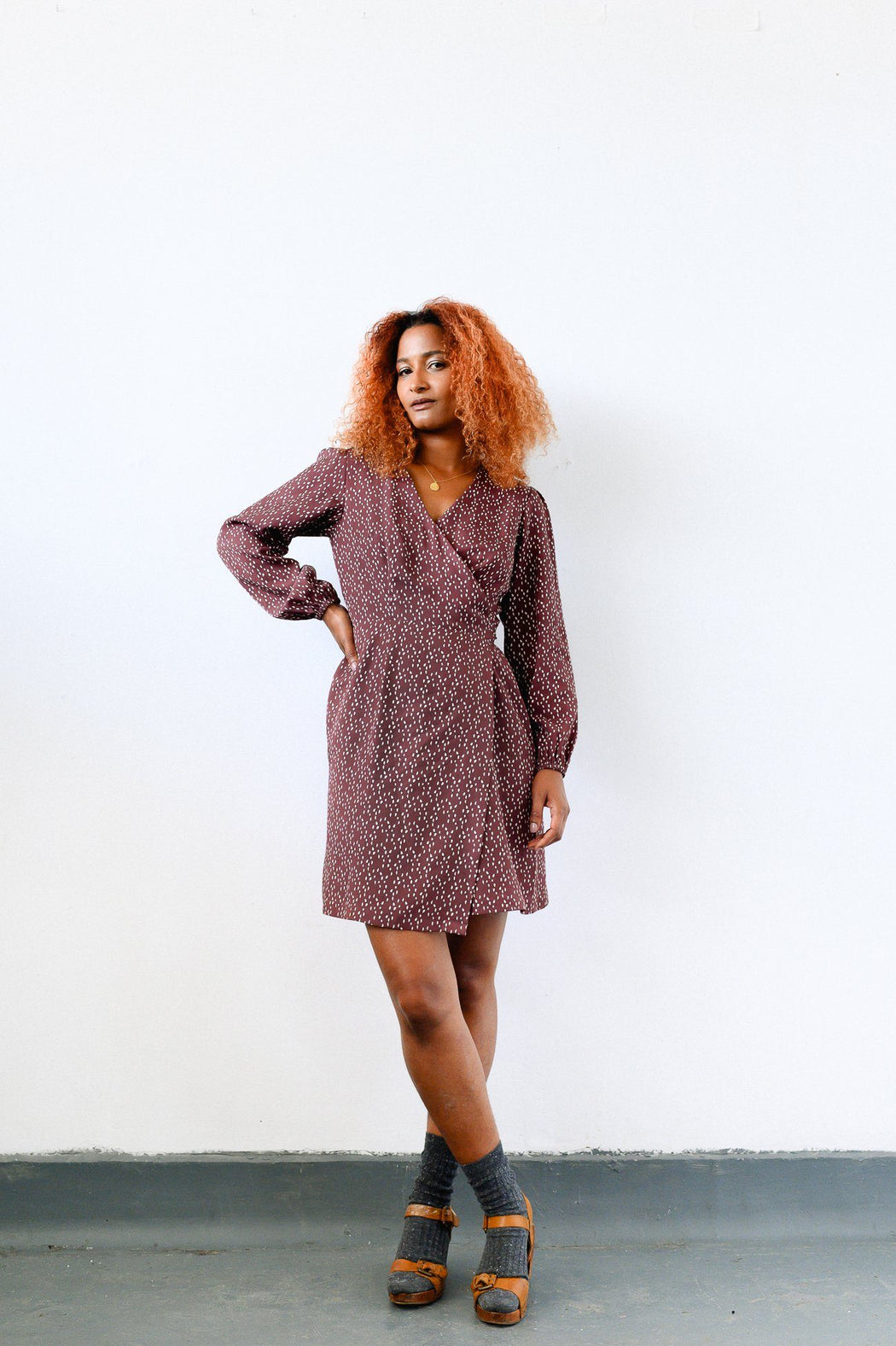 Dots Mini Wrap Dress