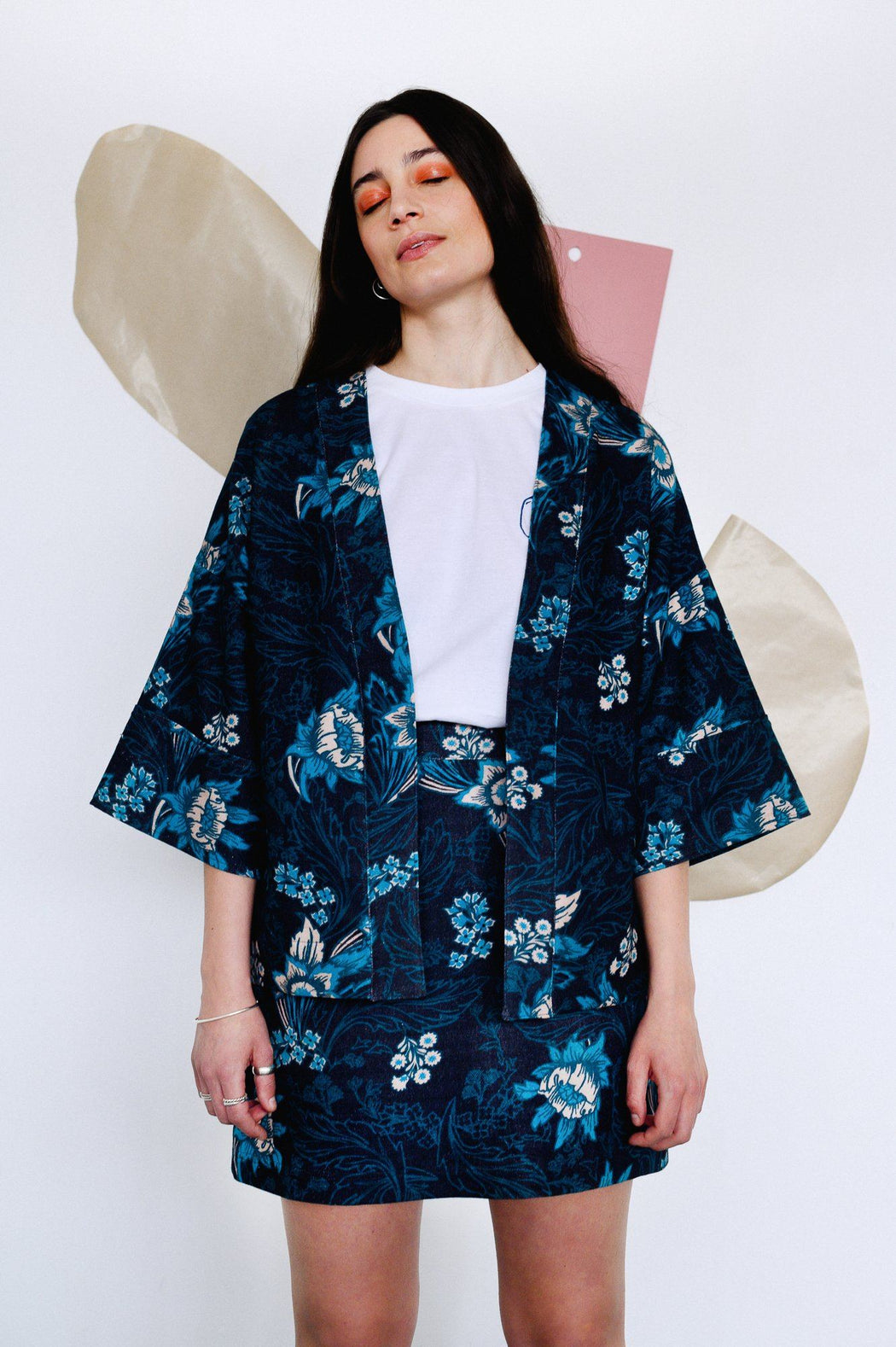 Floral Wide Sleeve Day Jacket