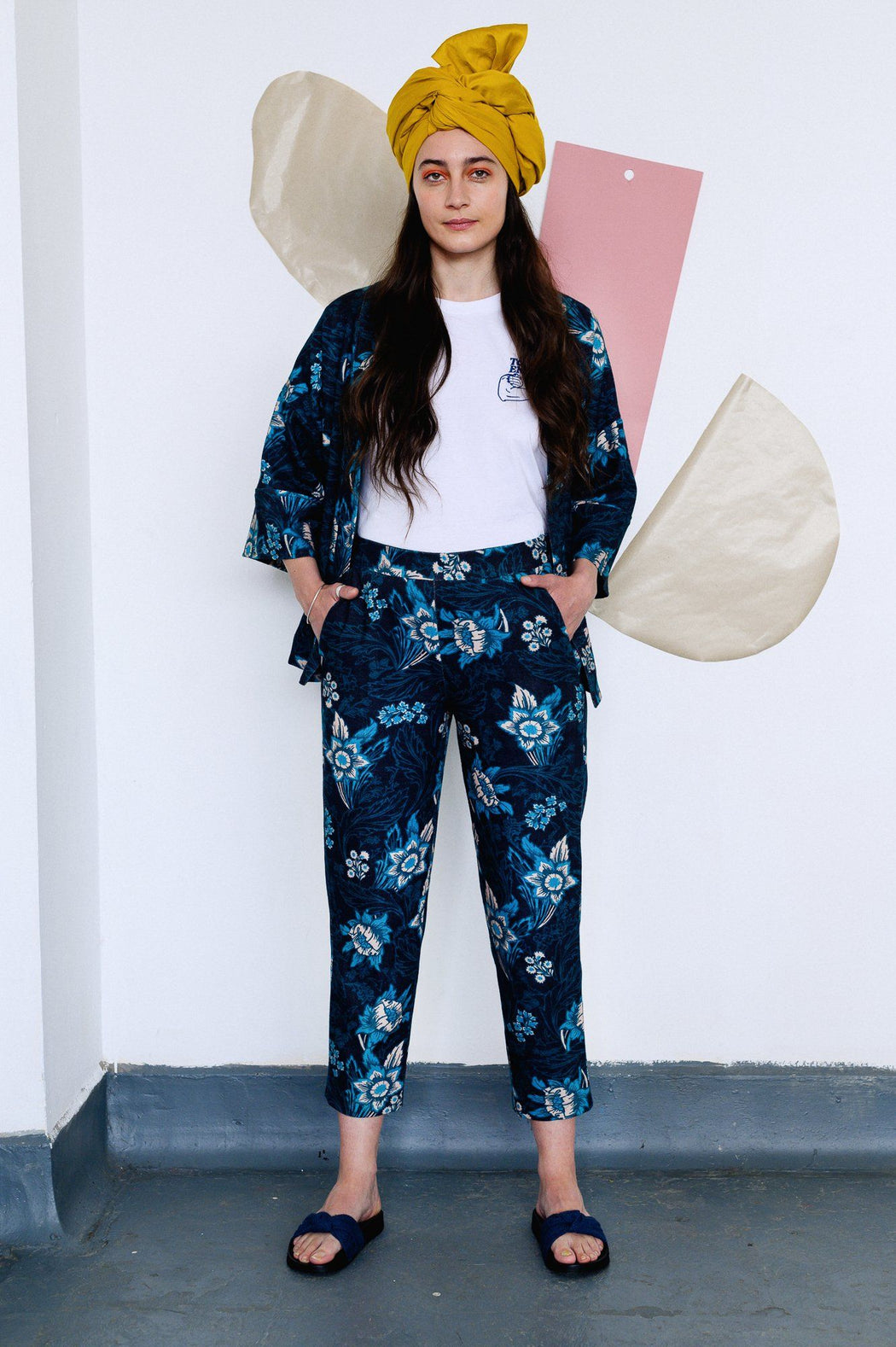 Floral Slim Leg Trousers