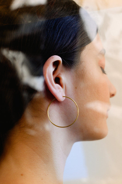 Large Gold Hoops ACCESSORIES Birdsong