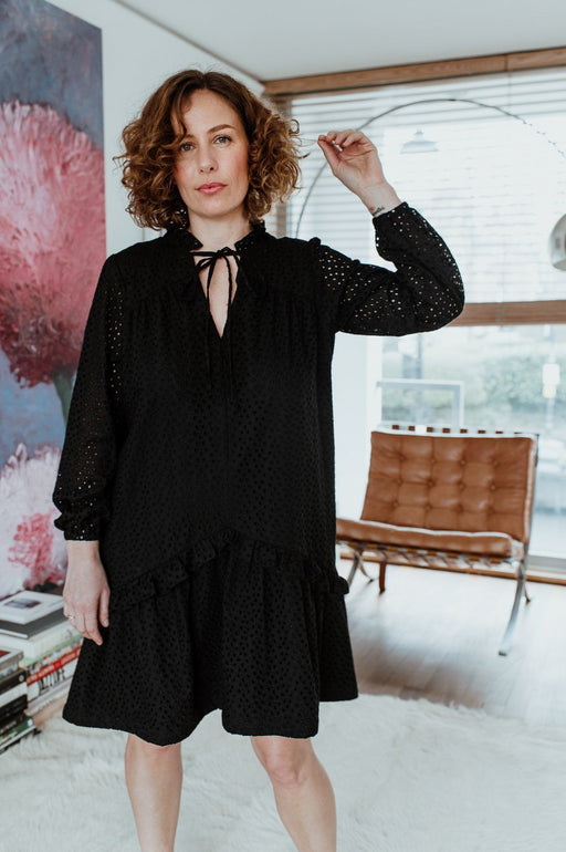 Black Broderie Anglaise Prairie Dress (limited edition)
