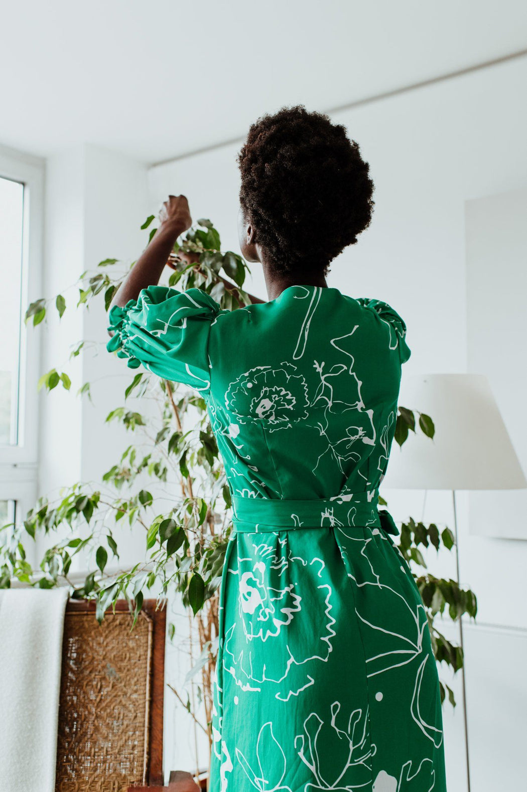 Emerald Green Printed Maxi Dress CLOTHING Birdsong