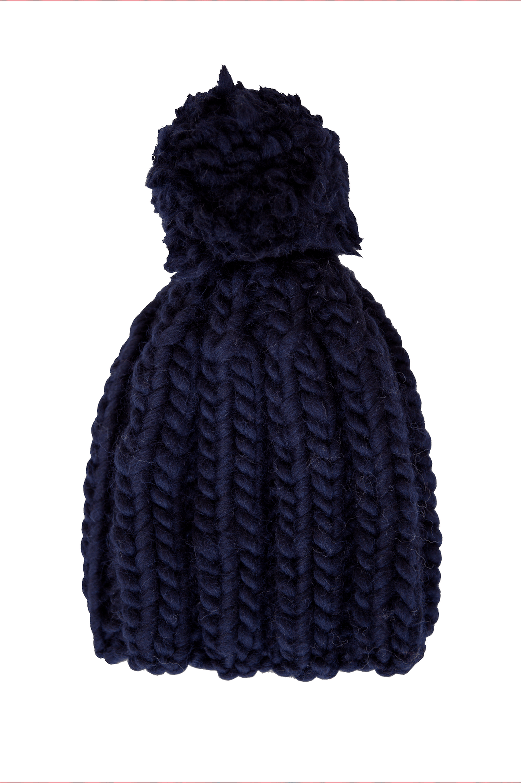 Navy Beanie with Pompom