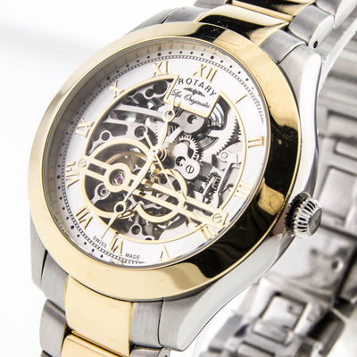 Rotary GB90515/10 Men's Jura Automatic skeleton Swiss Made watch