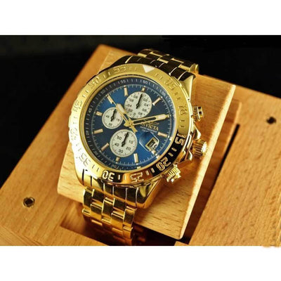 Invicta 18855 Men's Aviator Chronograph Blue Dial Gold-plated Watch