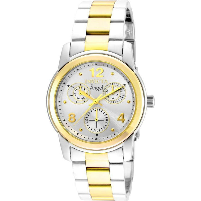 Invicta 21688 Women's Angel Quartz Chronograph Silver Dial Watch