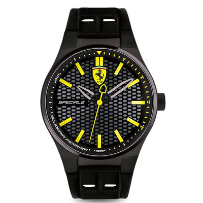 Ferrari 830354 Men's Speciale Black IP Rubber Strap Watch