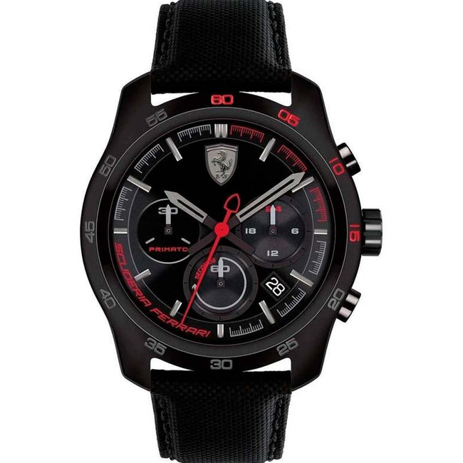 Ferrari 830446 Men's Primato Chronograph 44mm Black IP Steel Watch