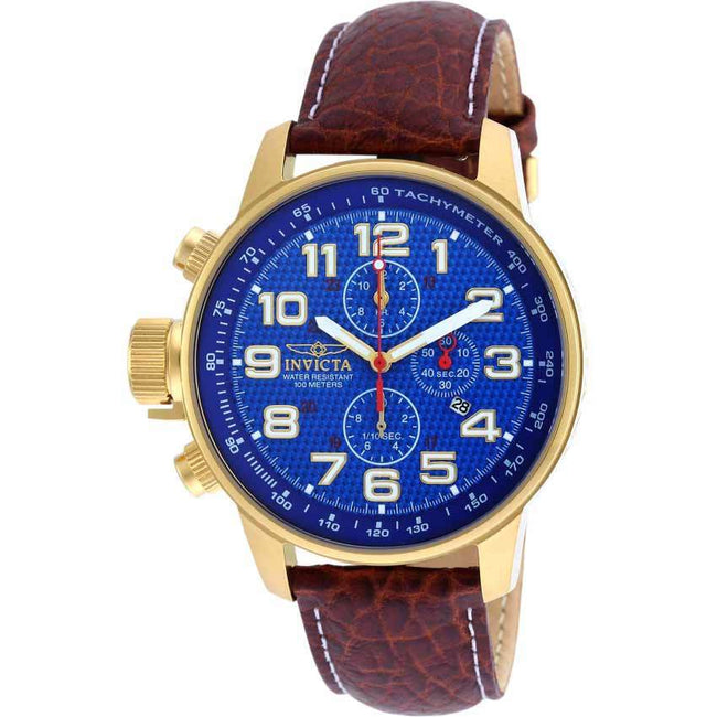 Invicta 90067 Men's I-Force Quartz Multifunction Blue Dial Watch