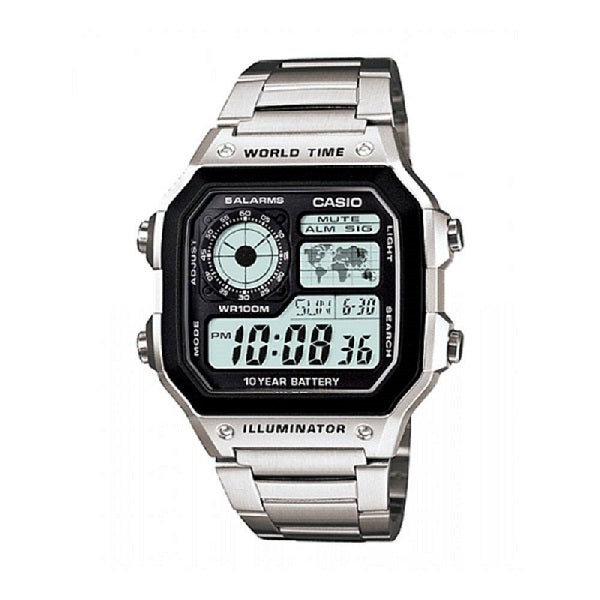 Casio AE1200WHD-1AV Men's Digital Stainless Steel Watch