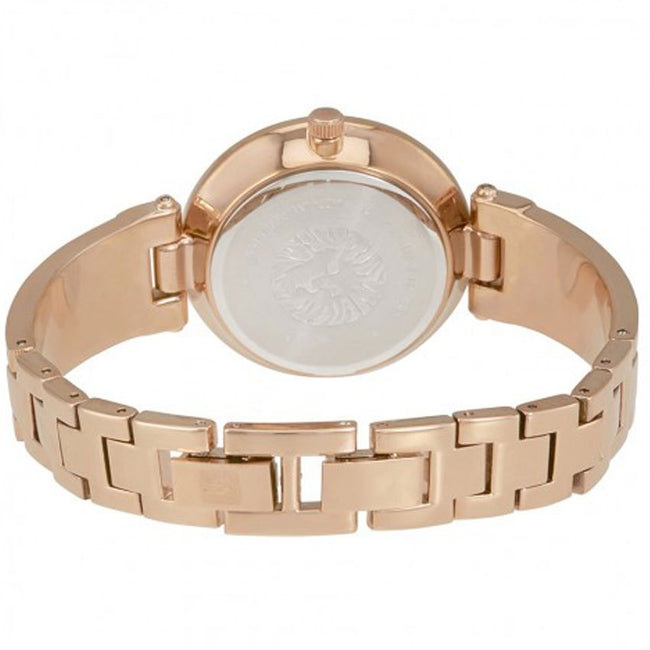 Anne Klein AK/2512GYRG Women's Diamond-Accented Rose Gold-Tone Bangle Watch