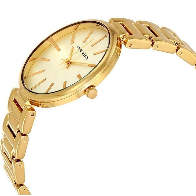 Anne Klein AK/2786CHGB Women's Gold-Tone Bracelet Small Watch