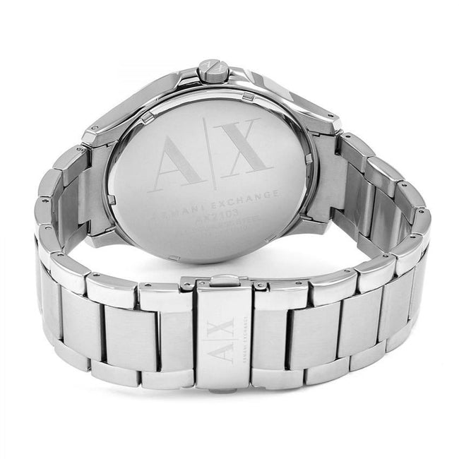 30cd9d47597 Armani Exchange AX2103 Men s Silver Stainless Steel Bracelet Watch ...
