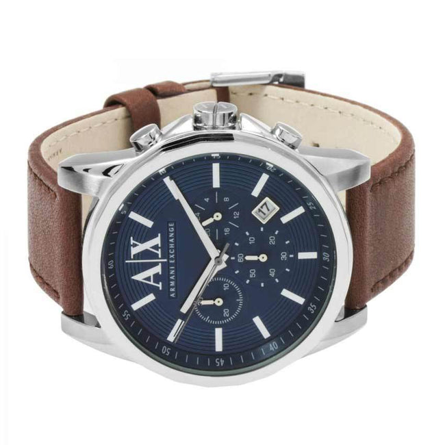 Armani Exchange AX2501 Men s Chronograph Brown Leather Watch ... f98f1ee15720c
