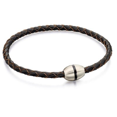 Fred Bennett B4914 Men's Stainless Steel Dark Brown Bracelet
