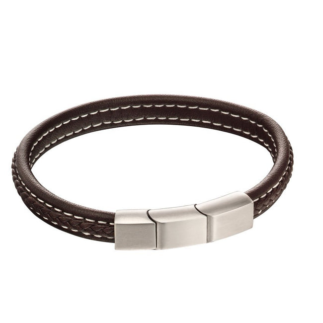 Fred Bennett B5120 Men's Brown Leather Bracelet