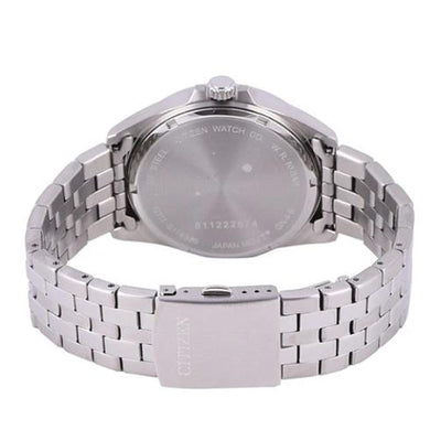 Citizen BI5051-51A Men's Stainless Steel Analog White Dial Watch